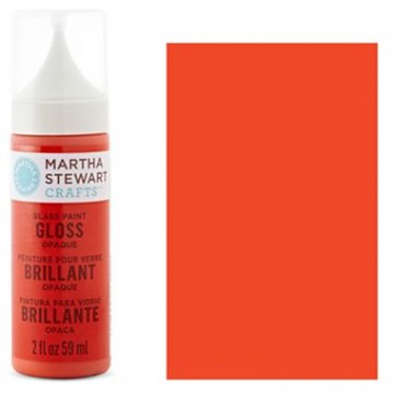 Купить краску Gloss Opaque Glass Paint – Geranium, Martha Stewart Crafts™, 33112