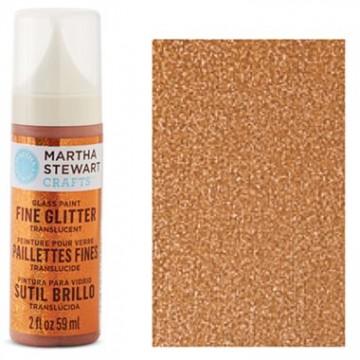 Купить краску Fine Glitter Translucent Glass Paint – Fire Opal, Martha Stewart Crafts™, 33151