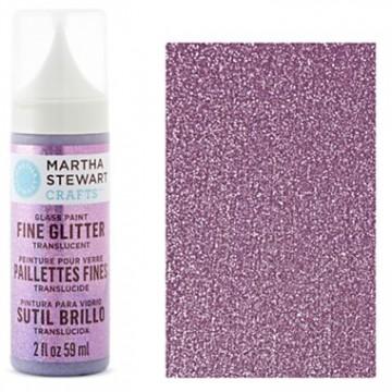 Купить краску Fine Glitter Translucent Glass Paint – Charoite, Martha Stewart Crafts™, 33127
