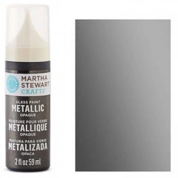 Купить краску Metallic Opaque Glass Paint – Black Nickel, Martha Stewart Crafts™, 33141
