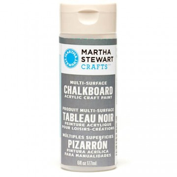 Купить краску Multi-Surface Chalkboard Acrylic Craft Paint – Gray, Martha Stewart Crafts, 32218