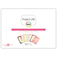 Мини набор карточек Flea Market, Project Life, American Crafts, 380184