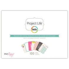 Мини набор карточек Polka Dot Party, Project Life, American Crafts, 380182