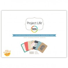 Мини набор карточек Cut & Paste, Project Life, American Crafts, 380183