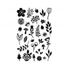 Набор акриловых штампов Garden Flowers By Lia, Hero Arts, CL874