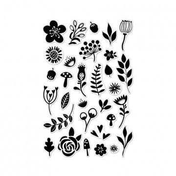 Купить Набор акриловых штампов Garden Flowers By Lia, Hero Arts, CL874