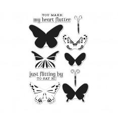 Набор акриловых штампов Color Layering Butterflies, Hero Arts, CL867