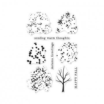 Купить Набор акриловых штампов Color Layering Fall Trees, Hero Arts, CL886