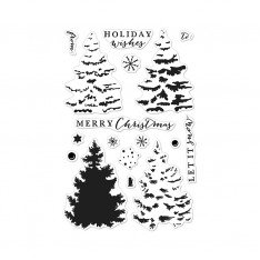 Набор акриловых штампов Color Layering Christmas Tree, Hero Arts, CL887