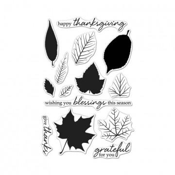 Купить Набор акриловых штампов Color Layering Grateful for You Leaves, Hero Arts, CL987