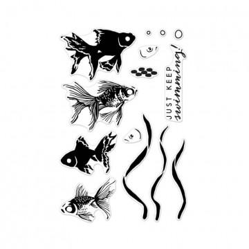 Купить Набор акриловых штампов Color Layering Goldfish, Hero Arts, CL945