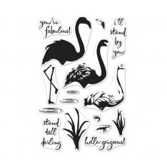Набор акриловых штампов Color Layering Flamingo, Hero Arts, CL962