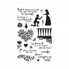 Набор акриловых штампов Romeo and Juliet, Hero Arts, CM121