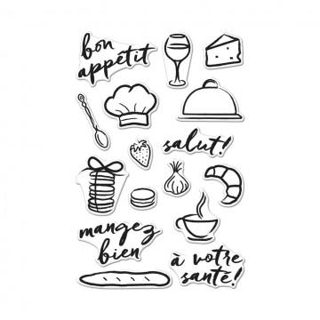 Купить набор акриловых штампов Bon Appetit, Hero Arts, CM148