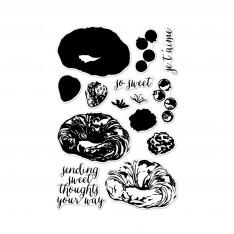 Набор акриловых штампов Color Layering Croissant, Hero Arts, CM134