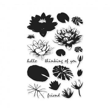 Купить набор акриловых штампов Color Layering Water Lilies, Hero Arts, CM128