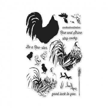 Купить набор акриловых штампов Color Layering Rooster, Hero Arts, CM125