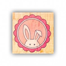 Резиновый штамп Bunny Frame, Hampton Art, VW0061-6