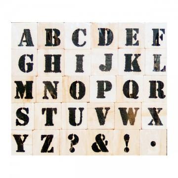 Купить Набор резиновых штампов Alphas, Hampton Art, VW0055-6