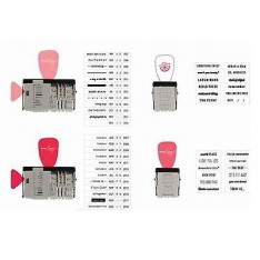 Набор штампов Date Stamp Kit, American Crafts, 366254