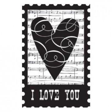 Купить Резиновый штамп I Love You Collage, Hampton Art, PS0350