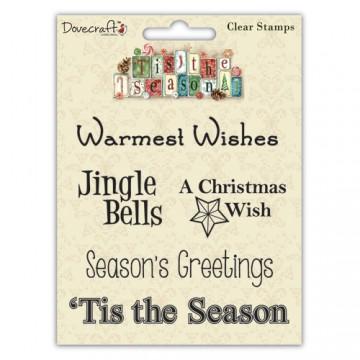 Купить Набор акриловых штампов Tis the Season Sentiment, Jingle, Dovecraft, DCXCS08