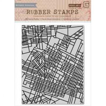 Купить Резиновый штамп City Map, Hero Arts, CG649