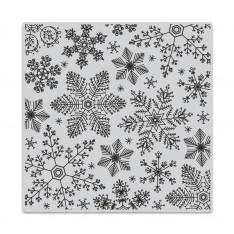 Резиновый штамп Hand Drawn Snowflakes Bold Prints, Hero Arts, CG685