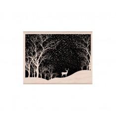 Резиновый штамп Snowy Scene, Hero Arts, K6100