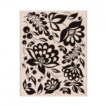 Купить Резиновый штамп Large Floral Background, Hero Arts, S6150