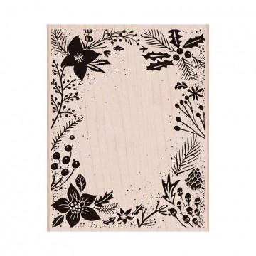 Купить Резиновый штамп Holiday Floral Background, Hero Arts, S6174