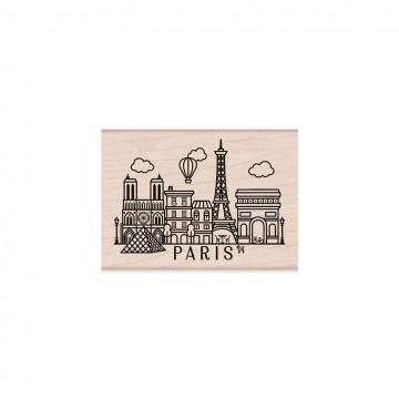 Купить резиновый штамп Destination Paris, Hero Arts, H6194