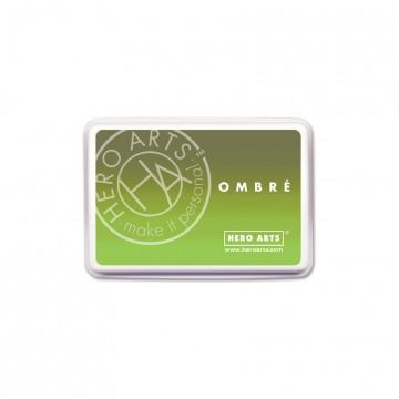 Купить Чернило для штампинга Ombre Lime to Forever Green, Hero Arts, AF320