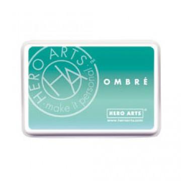Купить Чернило для штампинга Ombre Mint To Green, Hero Arts, AF310