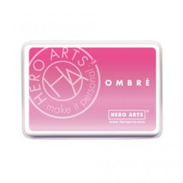 Купить Чернило для штампинга Ombre Pink To Red, Hero Arts, AF306
