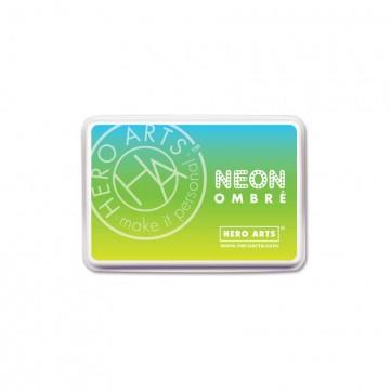 Купить Чернило для штампинга Ombre Neon Chartreuse to Blue, Hero Arts, AF329