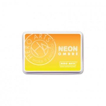 Купить Чернило для штампинга Ombre Neon Yellow to Orange, Hero Arts, AF328