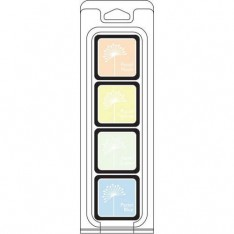 Чернило для штампинга White Pastels Cubes Pack, Hero Arts, AF273