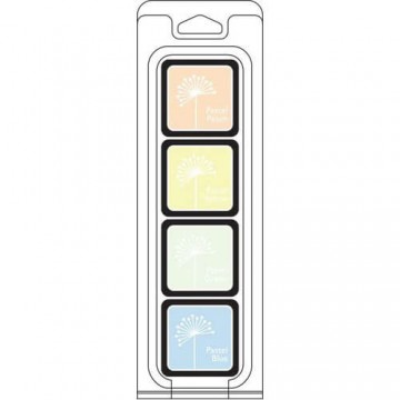Купить Чернило для штампинга White Pastels Cubes Pack, Hero Arts, AF273