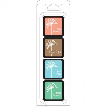 Купить Чернило для штампинга Quiet Morning Ink Cubes Pack, Hero Arts, AF238
