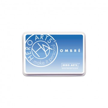 Купить чернило для штампинга Ombre Soft Sky to Indigo, Hero Arts, AF385