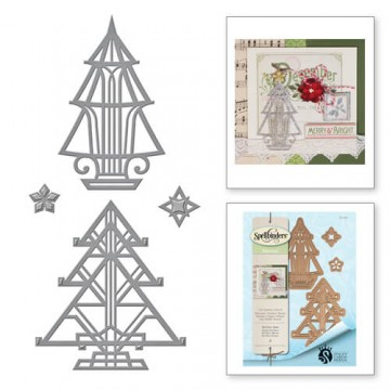 Купить Ножи Holiday Art Deco Trees, Spellbinders, S4-657
