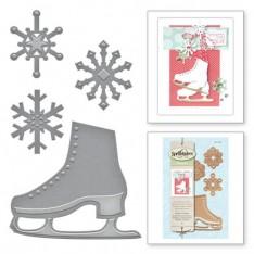 Ножи Holiday Flakes N Skates, Spellbinders, S2-235