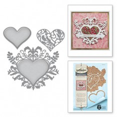 Ножи Botanical Bliss Botanical Heart, Spellbinders, S4-641