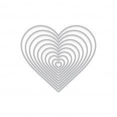 Набор ножей Nesting Hearts Infinity, Hero Arts, DI334