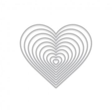 Купить Набор ножей Nesting Hearts Infinity, Hero Arts, DI334