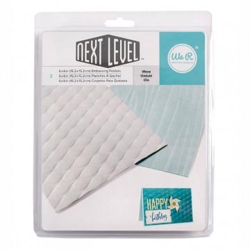 Купить папку для тиснения WAVE, Next Level 3D Embossing Folder, We R Memory Keepers, 662676