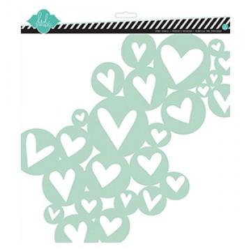 Купить Трафарет Heart Cluster, 30х30 см, Heidi Swapp, 00772