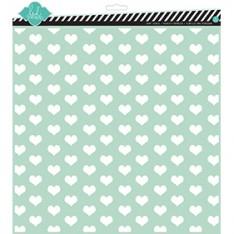 Трафарет Tiny Hearts, 30х30 см, Heidi Swapp, 00829