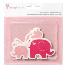 Высечки My Baby Bunnies & Elephants, Imaginisce, 400515